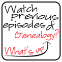 Watch Previous Episodes of What's Up Genealogy? Show via 4YourFamilyStory.com