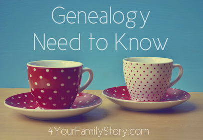9 #Genealogy Things You Need to Know Today, Tuesday, 3 June 2014, via 4YourFamilyStory.com. #needtoknow #familytree