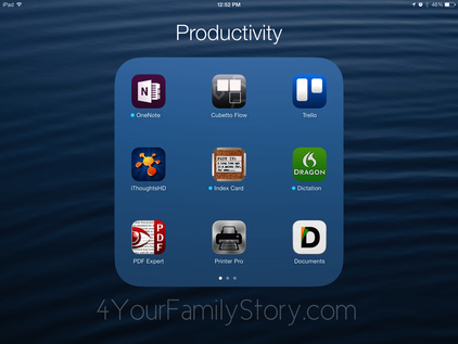 39 Productivity Apps for #Genealogy via 4YourFamilyStory.com