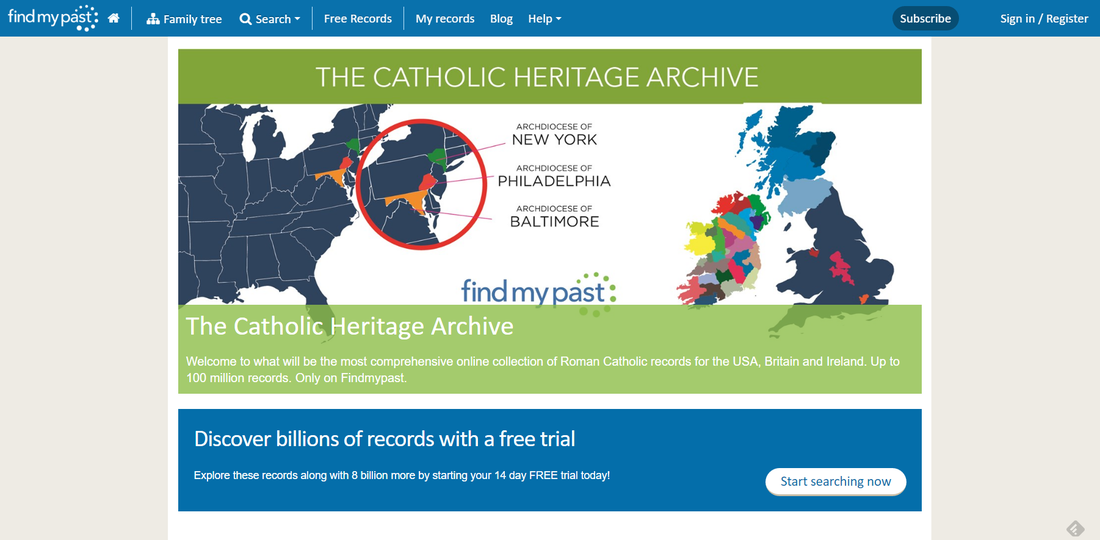 Findmypast Launches Catholic Digital Archive via 4YourFamilyStory.com #genealogy #familyhistory